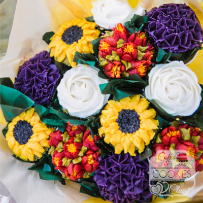 Deluxe Thanksgiving Cupcake Bouquet