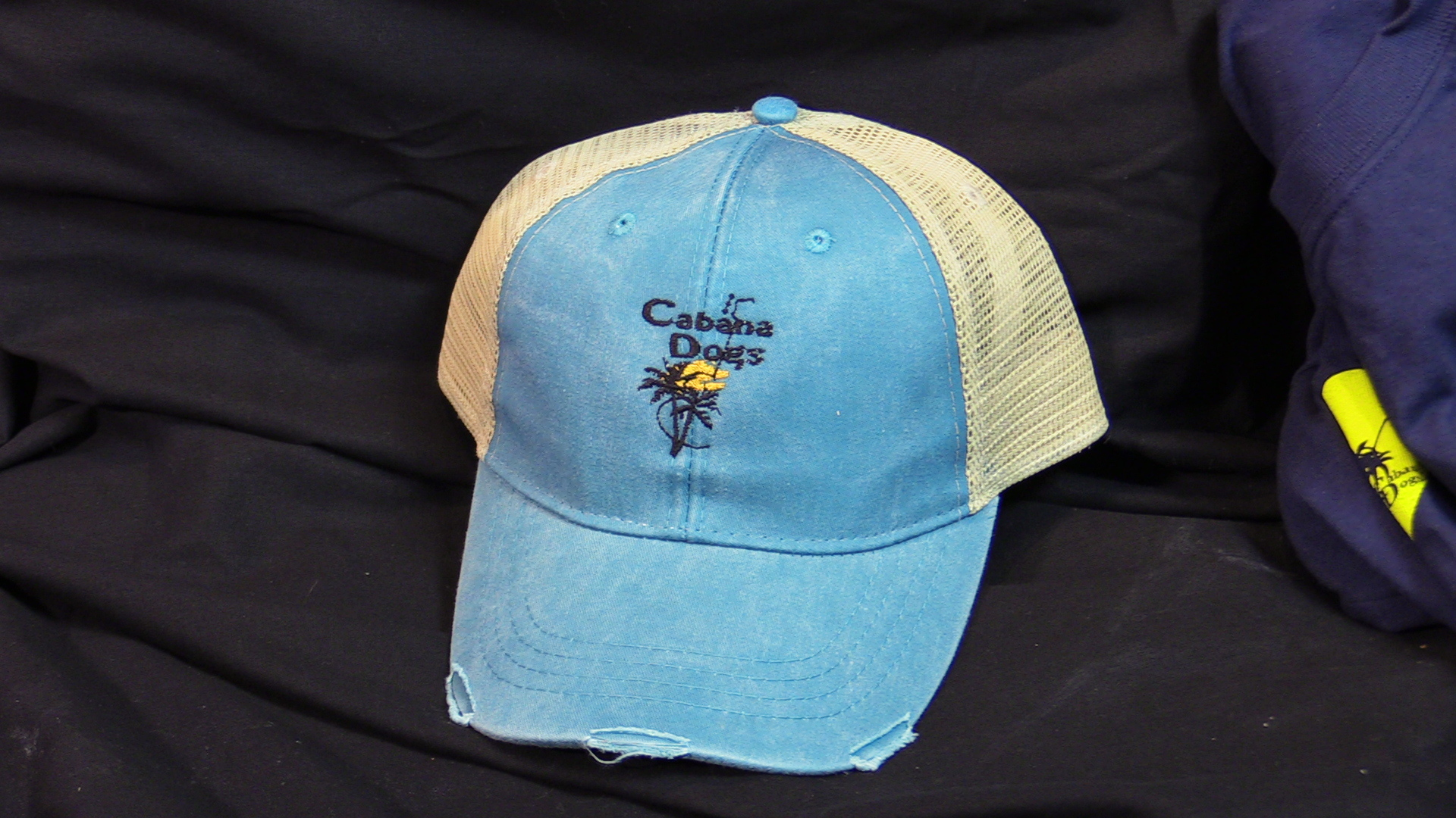 "Cabana Dogs logo ""Road-Worn"" Baseball Cap 3 colors"