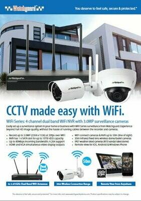 Watchguard 4 Channel WiFi Network Surveillance System.
