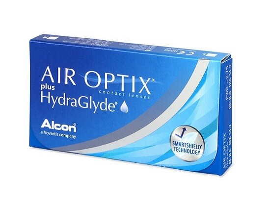 Alcon® AirOptix® with HydraGlyde Monthly Replacement Soft Contact Lens  6 Pcs/Box 每月拋棄式高透氧隱形眼鏡 每盒6片