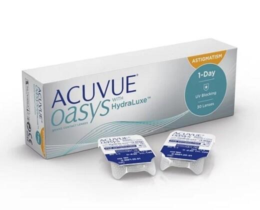 強生 1 Day ACUVUE® Oasys with HydraLuxe for Astigmatism 30 Pcs/Box 每日拋棄式高透氧散光隱形眼鏡 每盒30片