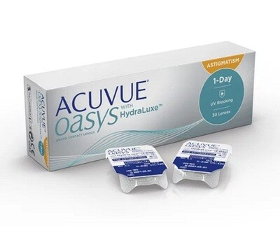 強生 1 Day ACUVUE® Oasys with HydraLuxe for Astigmatism 30 Pcs/Box 每日拋棄式高透​氧​散光隱形眼鏡 每盒30片​