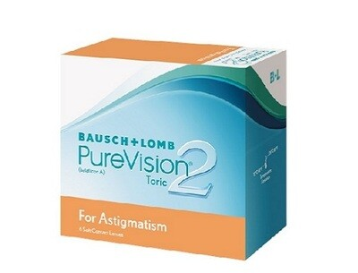 Bausch+Lomb PureVision2 Toric Monthly Replacement For Astigmatism 3Pcs/Box 每月​拋棄式高透​氧散光隱形眼鏡  每盒3片​