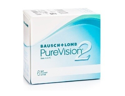 Bausch+Lomb PureVision 2 Monthly Replacement Soft Contact Lens  6 Pcs/Box 每月​拋棄式高透​氧隱形眼鏡 每盒6片​