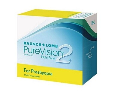 Bausch+Lomb PureVision2 Multifocal for Presbyopia Multifocal Monthly Replacement Contact Lens 3 Pcs/Box 每月​拋棄式高透​氧​漸進多焦點隱形眼鏡  每盒3片​