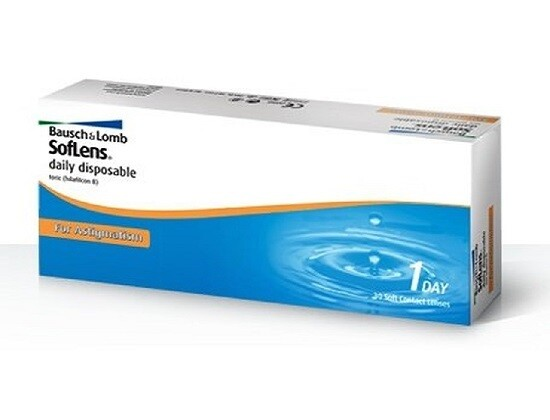 Bausch+Lomb Soflens Daily Disposable Toric Lens 30 Pcs/Box 每日拋棄式散光隱形眼鏡 每盒30片
