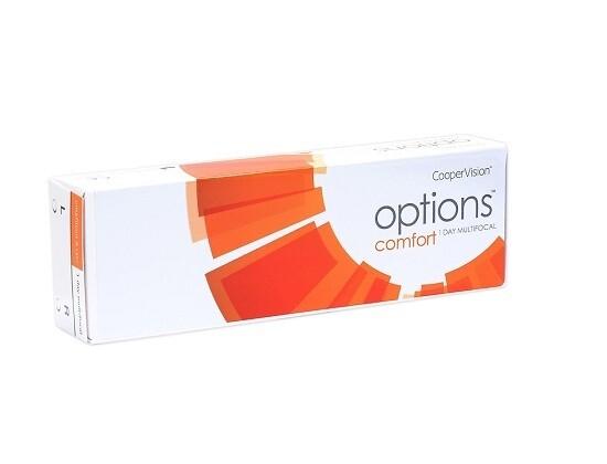 OPTIONS Comfort 1-Day Multi-focal Contact Lens 30 Pcs/Box 每日拋棄式漸進多焦點隱形眼鏡 每盒30片