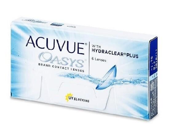 強生 ACUVUE® Oasys 2 Weeks 6 Pcs/Box 每兩星期拋棄式高透氧隱形眼鏡 每盒6片