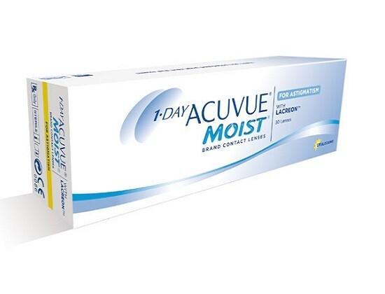 強生 1 Day ACUVUE® Moist For Astigmatism with LACREON 30 Pcs/Box 每日拋棄式散光隱形眼鏡 每盒30片