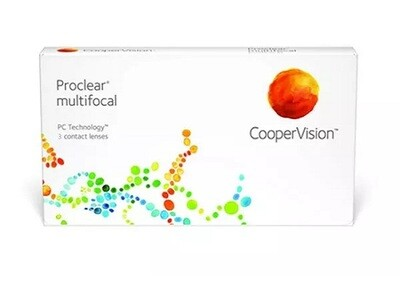 CooperVision Proclear Multifocal Toric Monthly Contact lens 6Pcs/Box 每月拋棄式散光漸進多焦點隱形眼鏡 每盒6片​
