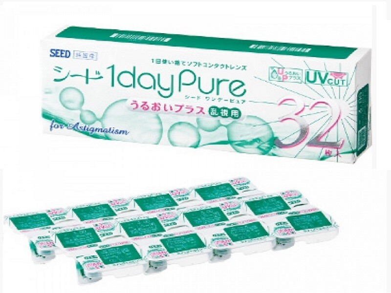 Seed 1 day Pure Moisture for Astigmatism 30 Pcs/Box 每日拋棄式散光隱形眼鏡 每盒32片
