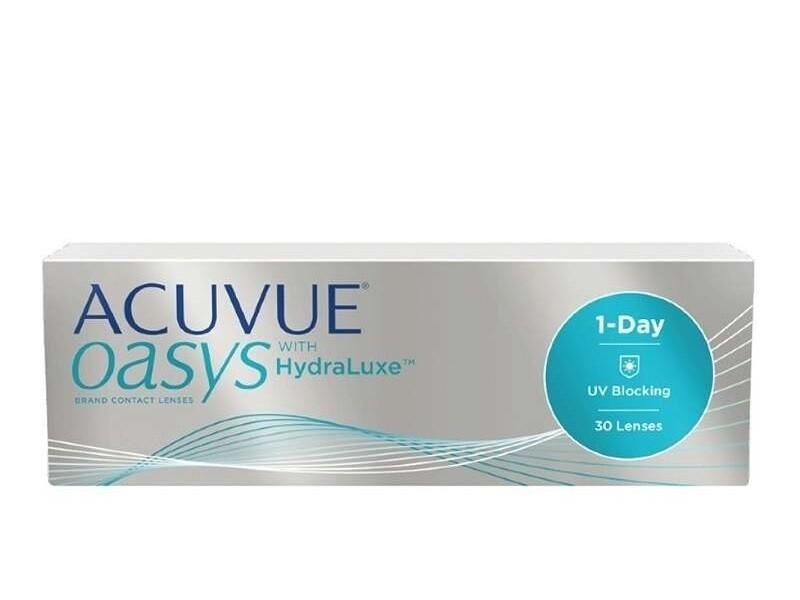 強生 1 Day ACUVUE® Oasys with HydraLuxe 每日拋棄式高透氧隱形眼鏡 每盒30片