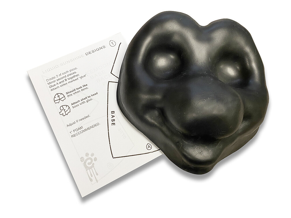 EVA Foam Kemoony Kemono Toony Fursuit Mask Head Base and Pattern