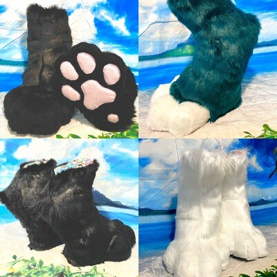 Digi Feet Paw Boots Fursuit Cosplay