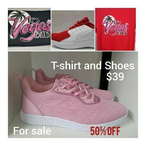 Ladies T-Shirt & Shoes