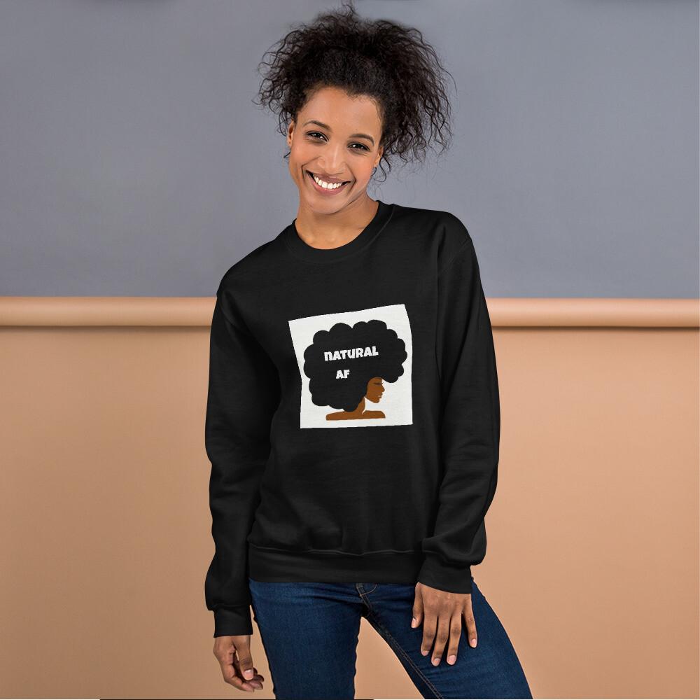 Unisex Sweatshirt-natural af afro queen