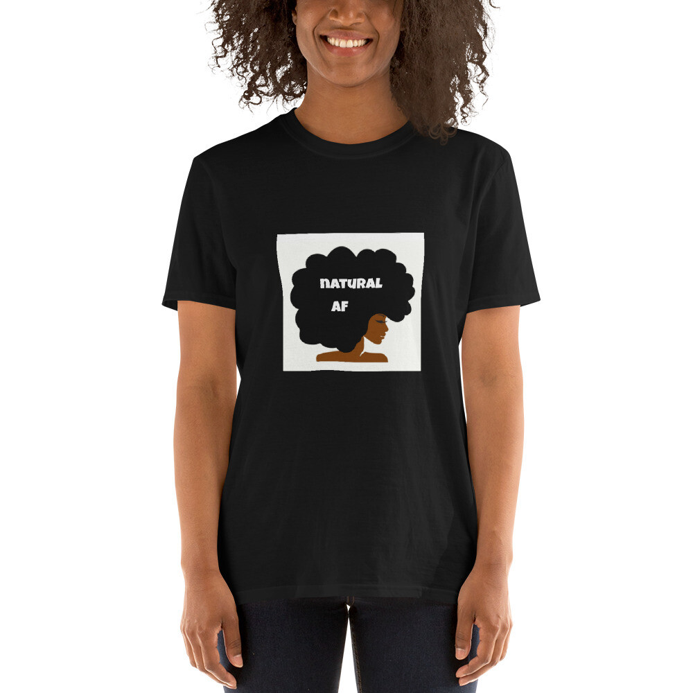 Short-Sleeve Unisex T-Shirt-natural af afro queen