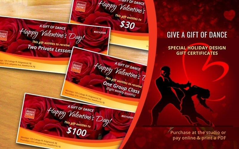 Valentine's Day Gift Certificate