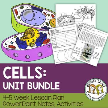 Cells Organelles & Processes - PowerPoint & Handouts Unit - Distance Learning + Digital Lesson