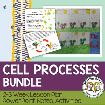 Cell Processes - PowerPoint & Handouts Bundle - Distance learning + Digital Lesson