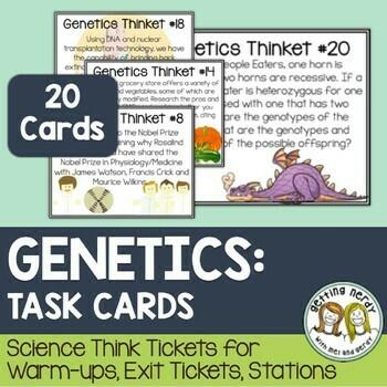 Genetics - Task Cards - Distance Learning + Digital Lesson