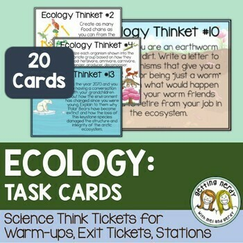 Ecology - Task Cards - Distance Learning + Digital Lesson
