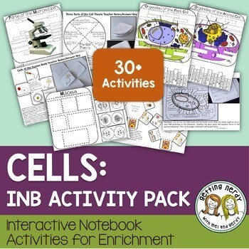 Science Interactive Notebook + Digital Distance Learning Version- Cells Organelles & Processes