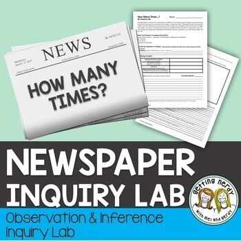 Scientific Method Newspaper Inquiry Lab