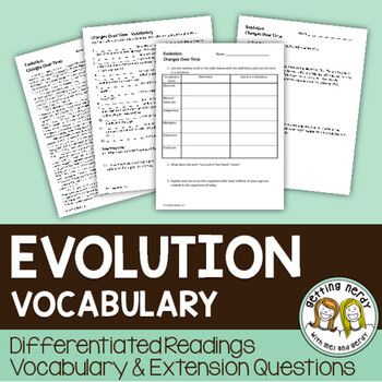 Evolution Vocabulary