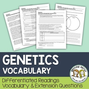 Genetics - Differentiated Vocabulary