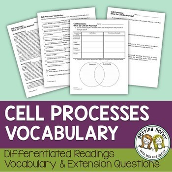Cellular Processes Vocabulary Lesson