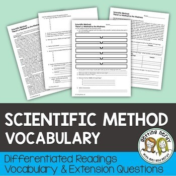 Scientific Method - Differentiated Vocabulary