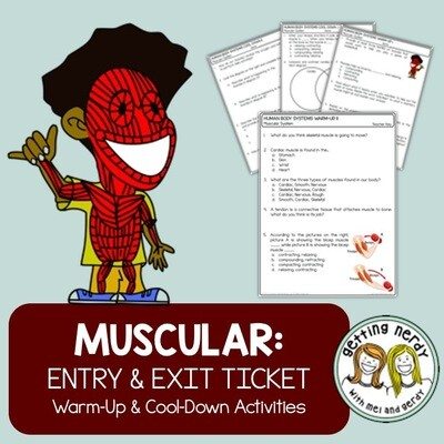 Muscular System: Human Body Warm-Up Cool-Down - Distance Learning Digital Lesson