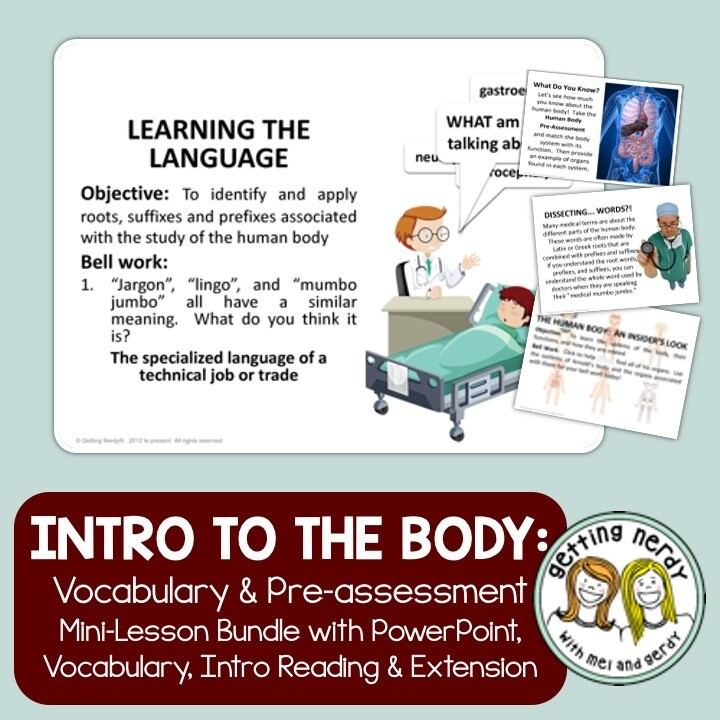 Human Body Introduction & Vocabulary - Distance Learning + Digital Lesson