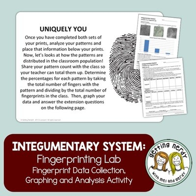 Integumentary System - CSI Fingerprinting Lab - Distance Learning + Digital Lesson