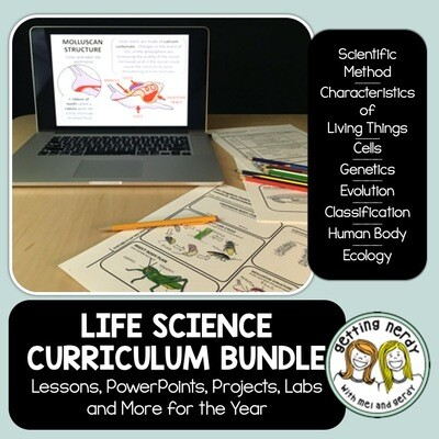 Life Science Biology Curriculum Bundle - Distance Learning + DIGITAL