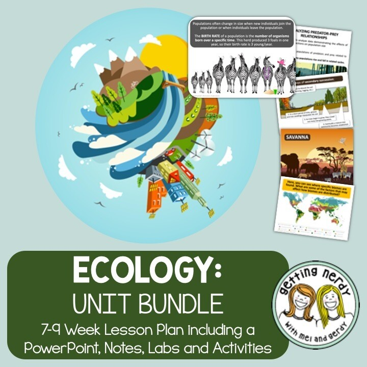 Ecology & Ecosystems - PowerPoint & Handouts Unit - Distance Learning + Digital Lessons