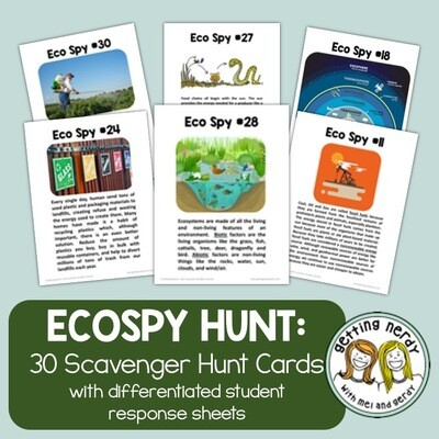 Ecology Scavenger Hunt Review Activity - Distance Learning + Digital Lesson