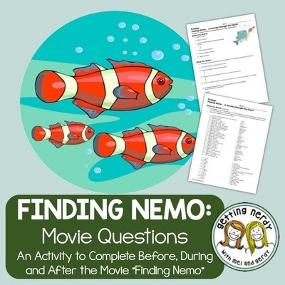Finding Nemo Movie Companion Questions - Distance Learning + Digital Lesson