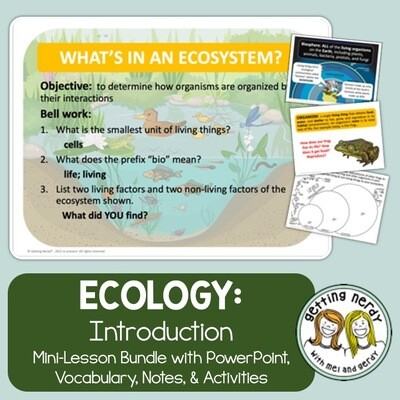 Ecology & Ecosystem Levels of Organization - Distance Learning + Digital