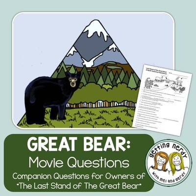 Ecosystem Movie Questions - Last Stand of the Great Bear Rainforest + Digital Lesson