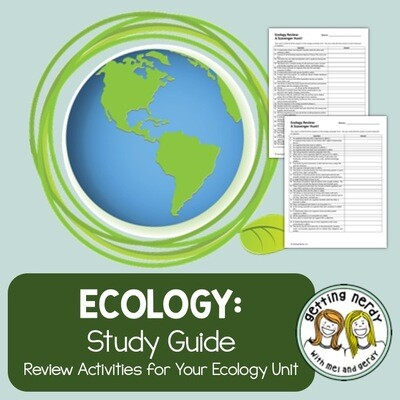 Ecology and Ecosystems Study Guide - Distance Learning + Digital Lesson