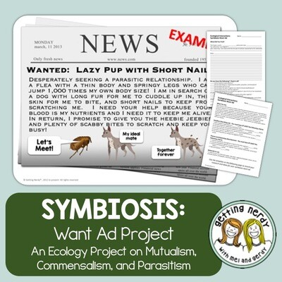 Symbiosis Notes and Want Ad Project - Distance Learning + Digital Lesson