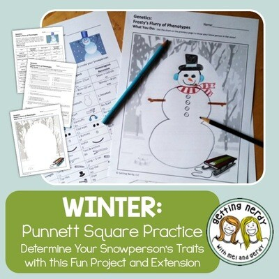 Christmas Science a Winter Genetics Activity - Punnett Square Practice - Distance Learning + Digital Lesson