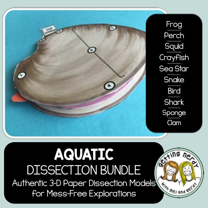 Dissection Models - Aquatic Animals Bundle - Distance Learning + Digital Lesson
