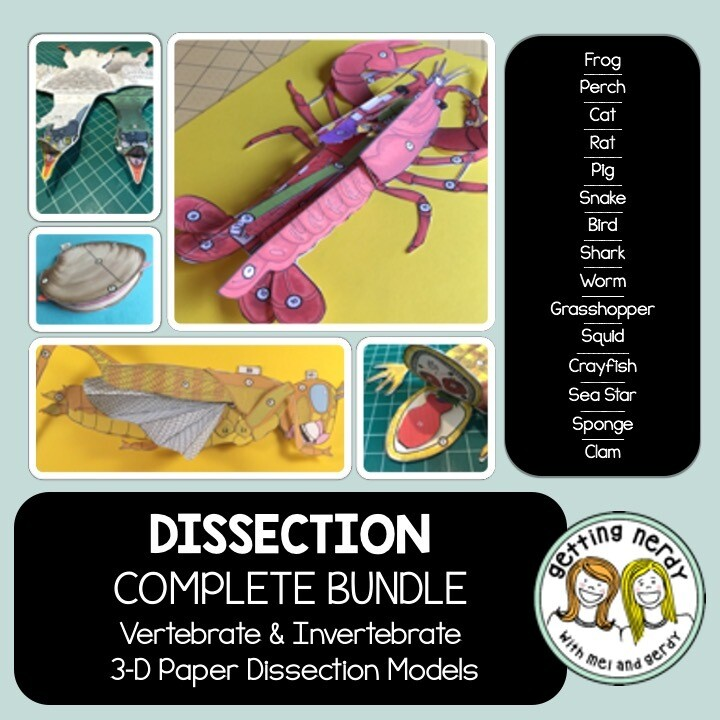 Scienstructable 3D Dissection Model Bundle - Vertebrate & Invertebrate Animals - Distance Learning + Digital Model