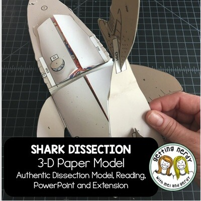 Shark Paper Dissection - Scienstructable 3D Dissection Model - Distance Learning + Digital Lesson