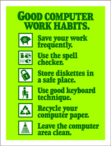 Good Computer Work Habits