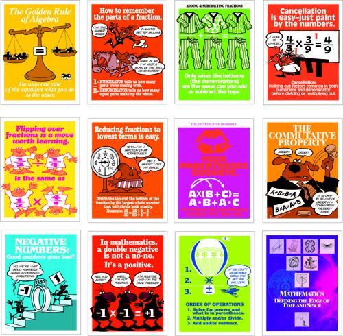 Math Minders Poster Set (12)