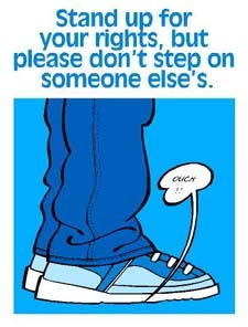 Don't Step On Other People's Rights